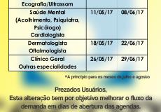 [URGENTE] Alteração no cronograma de abertura das agendas