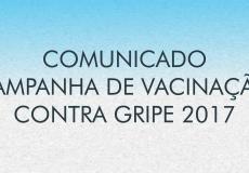 Campanha de Vacinação contra Gripe   2017