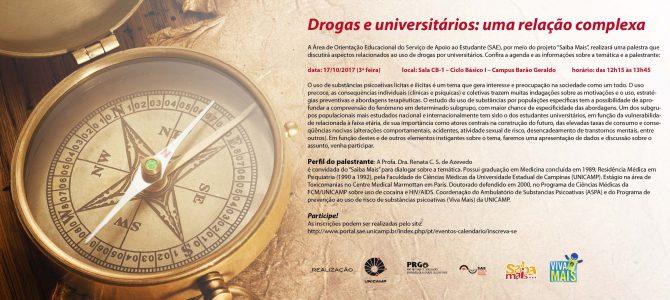 """[Vídeo] Palestra """"Drogas e universitários, uma relação complexa"""" por Renata de Azevedo"""