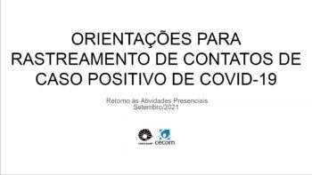 Link permanente para: ORIENTAÇÕES PARA RASTREAMENTO DE CONTATO DE CASO POSITIVO DE  COVID-19